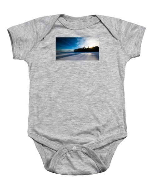 Sunrise In Winter Baby Onesie