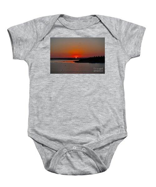 Sunrise On Lake Ray Hubbard Baby Onesie