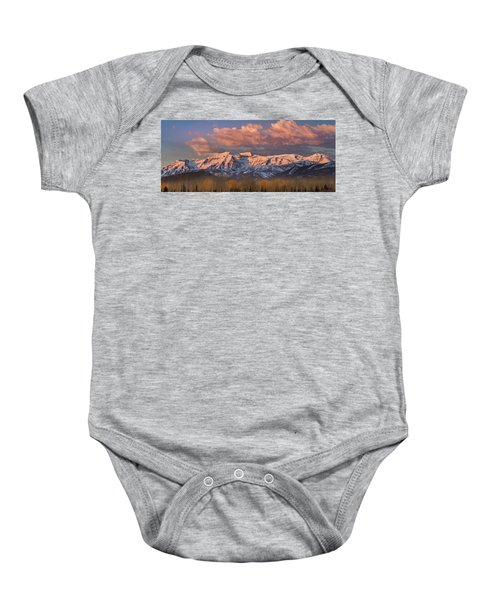 Sunrise On Timpanogos Baby Onesie