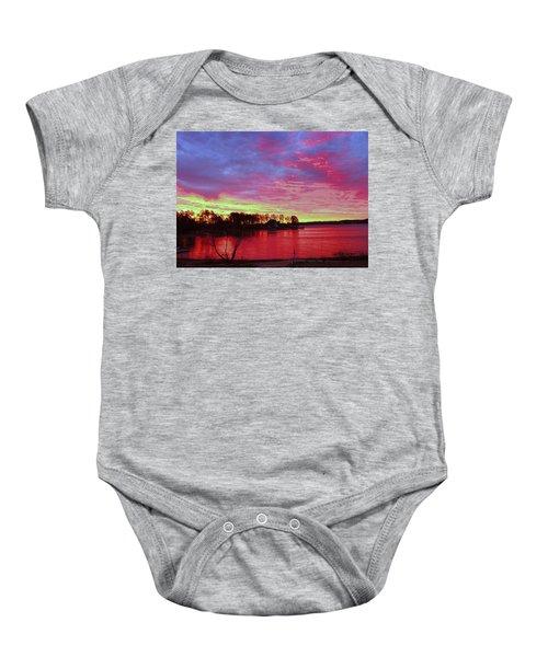 Sunrise Over Lake Murray Baby Onesie