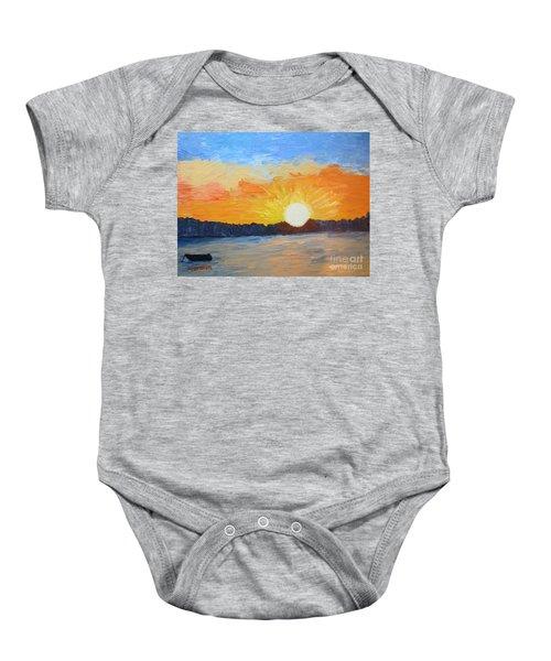 Sunrise At Pine Point Baby Onesie