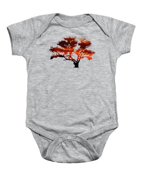 Sunrise Tree 2 Baby Onesie