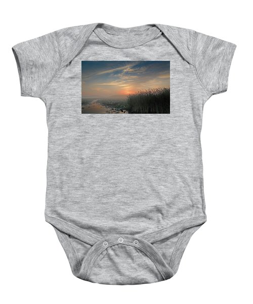 Sunrise Through The Fog Baby Onesie