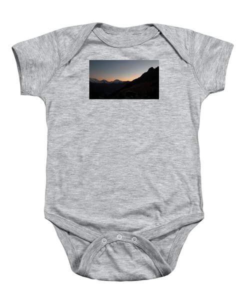 Sunset Afterglow In The Mountains Baby Onesie