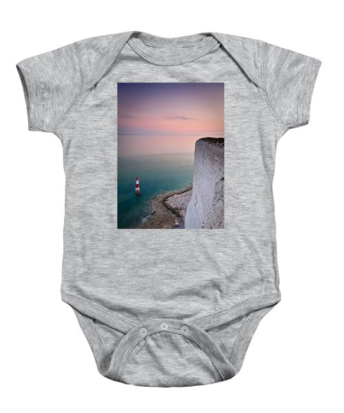 Sunset At Beachy Head Baby Onesie