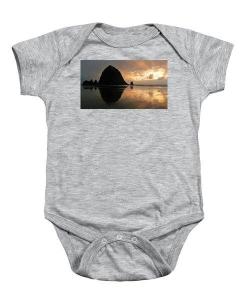 Sunset At Haystack Rock Baby Onesie
