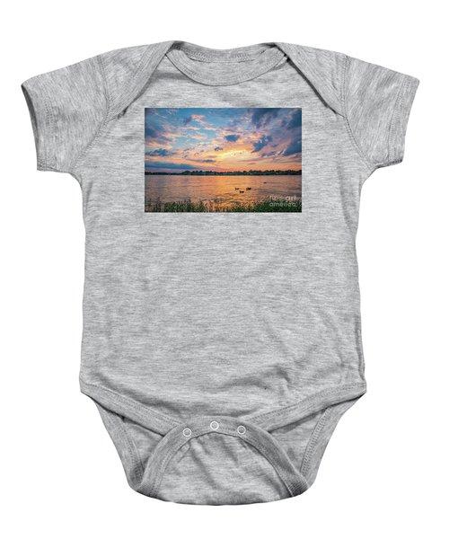 Sunset At Morse Lake Baby Onesie
