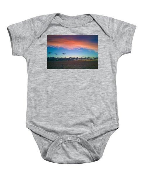 Sunset At Sea Baby Onesie