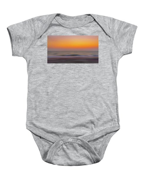 Sunset At The Beach Baby Onesie