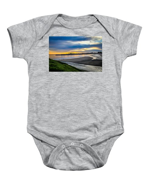 Sunset At The Rivermouth Baby Onesie
