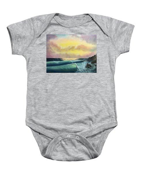 Sunset Beach Baby Onesie