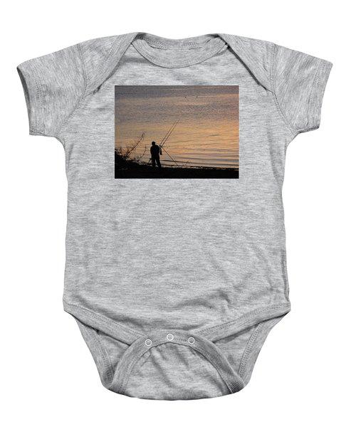 Sunset Fishing On The Loch Baby Onesie