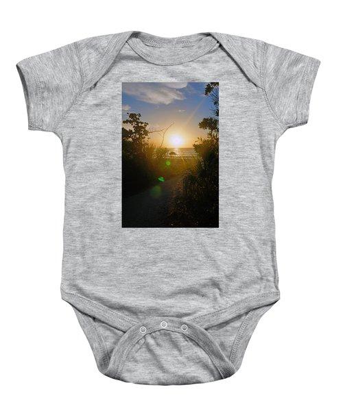 Sunset In Naples At Barefoot Beach Baby Onesie