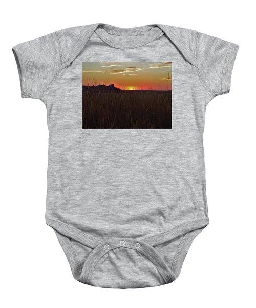Sunset In The Badlands Baby Onesie