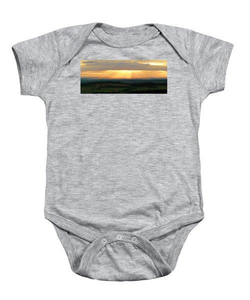 Sunset In Vogelsberg Baby Onesie