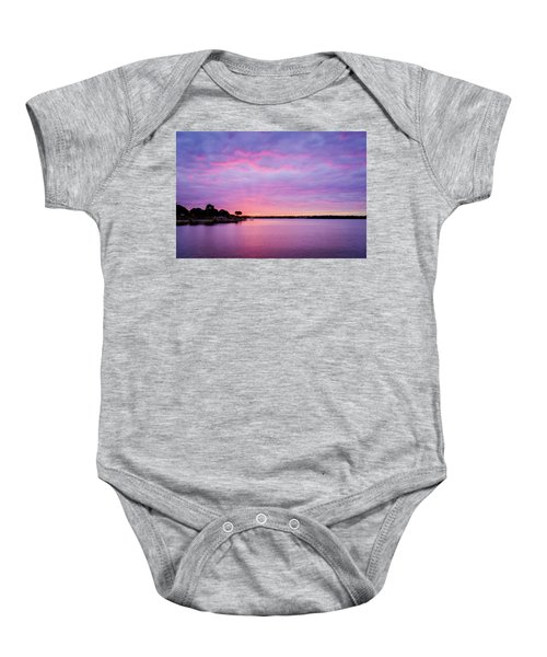 Sunset Lake Arlington Texas Baby Onesie