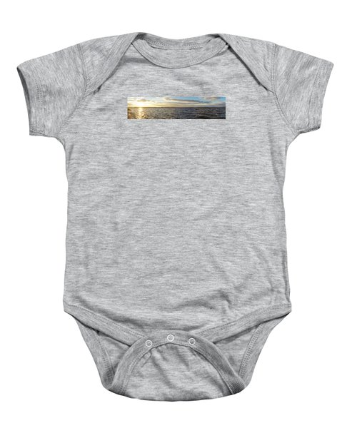 Sunset Over Cape Fear River Baby Onesie