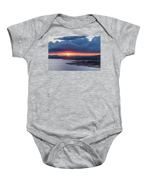 Sunset Over Millerton Lake  Baby Onesie