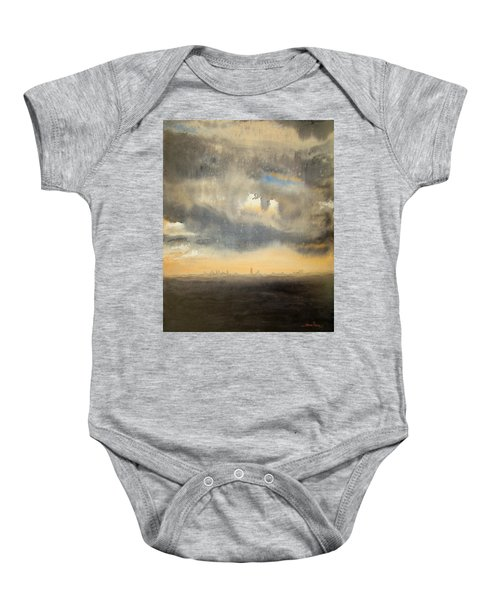 Sunset Over The City Baby Onesie