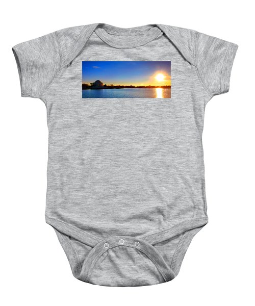 Sunset Over The Jefferson Memorial  Baby Onesie
