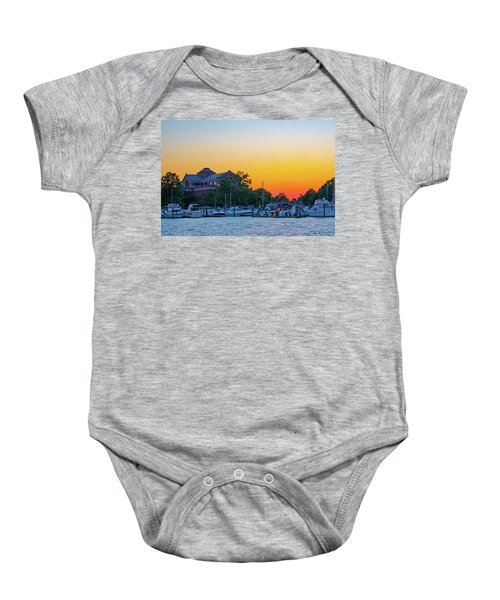 Sunset Over The National War College  Baby Onesie