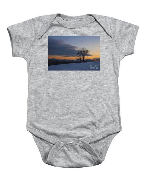 Sunset Solitude Baby Onesie