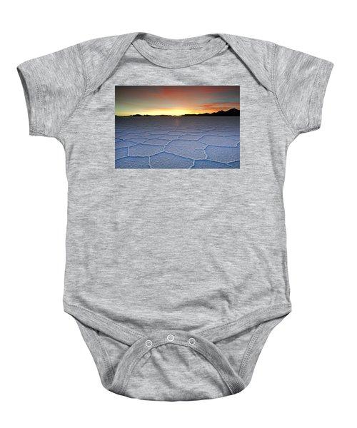 Lake Uyuni Sunset Texture Baby Onesie