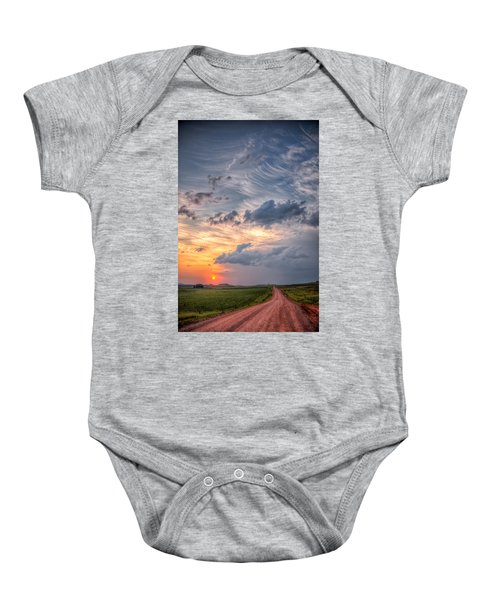 Sunshine And Storm Clouds Baby Onesie