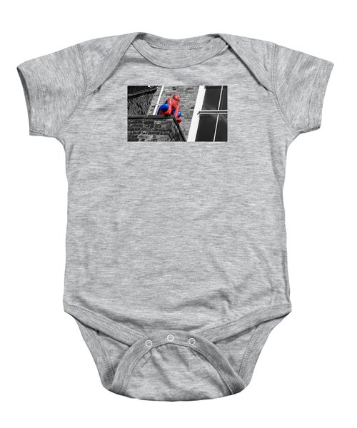 Baby Onesie featuring the photograph Super Hero by Pedro Fernandez