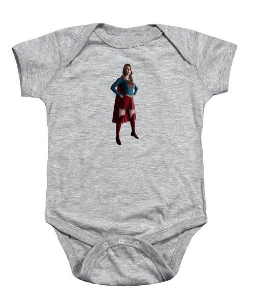 Supergirl Splash Super Hero Series Baby Onesie