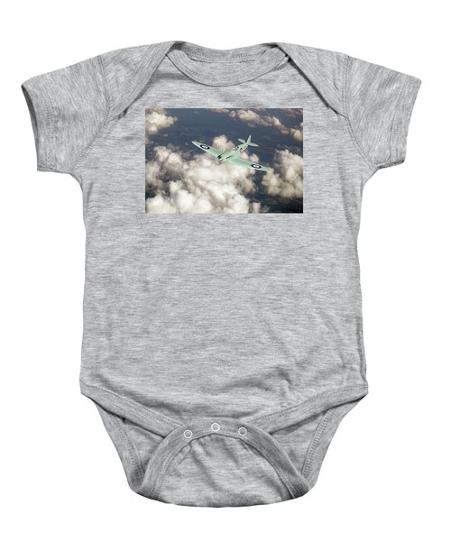 Baby Onesie featuring the photograph Supermarine Spitfire Prototype K5054 by Gary Eason