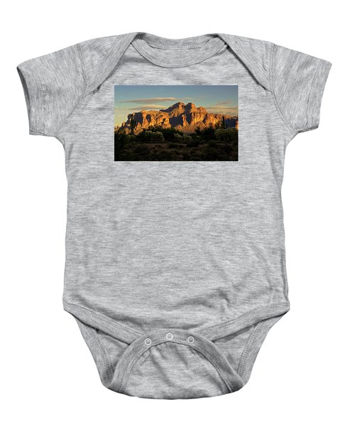 Superstitions At Sunset  Baby Onesie