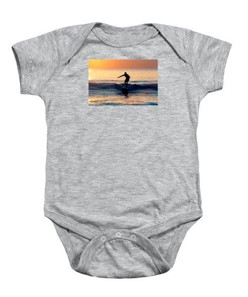 Surfer At Dusk Baby Onesie
