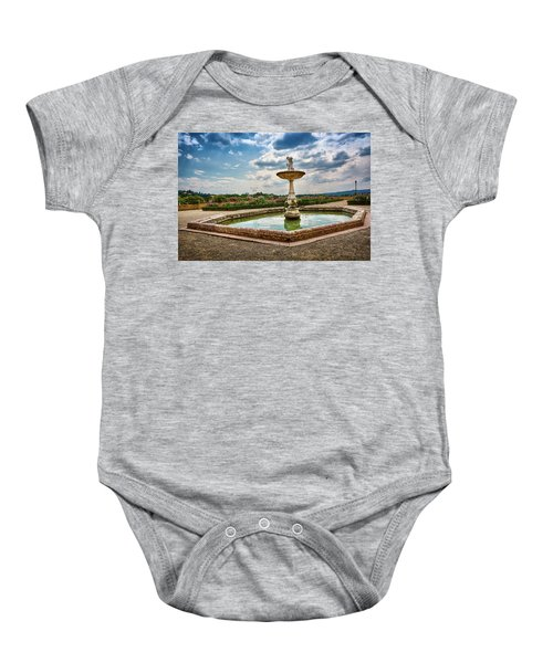 The Monkeys Fountain At The Gardens Of The Knight In Florence, Italy Baby Onesie