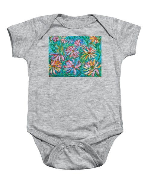 Baby Onesie featuring the painting Swirling Color by Kendall Kessler