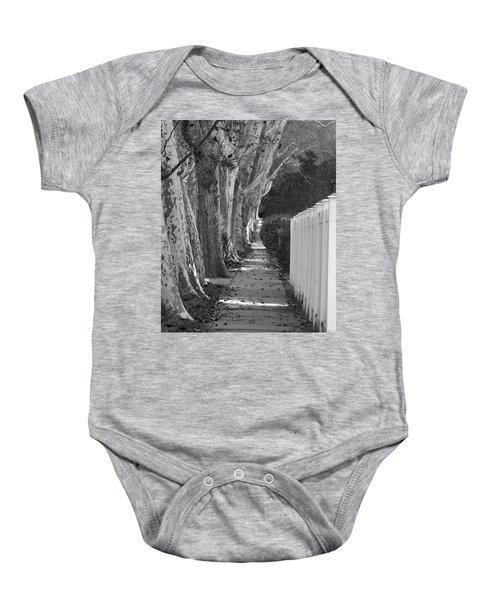 Sycamore Walk-grayscale Version Baby Onesie