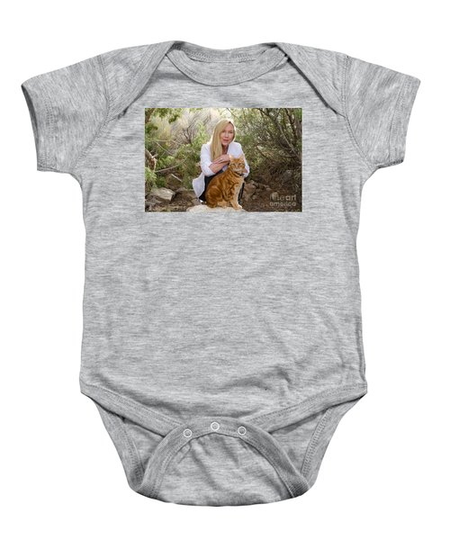 Tabasco And Molly On Meditation Rock Baby Onesie