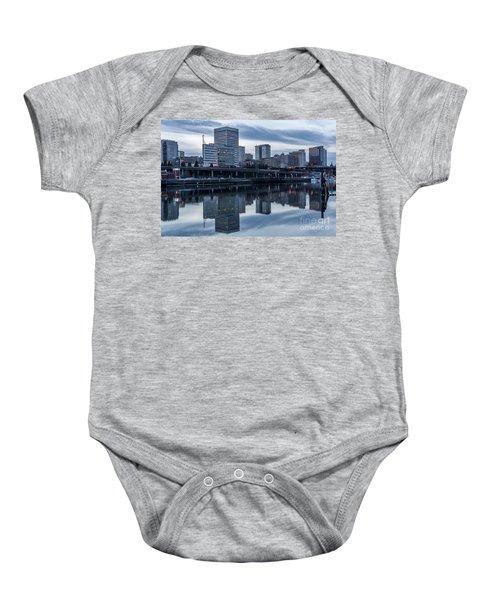 Tacoma Waterfront,washington Baby Onesie