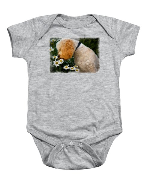 Taking Time To Smell The Flowers Baby Onesie by Susan Candelario