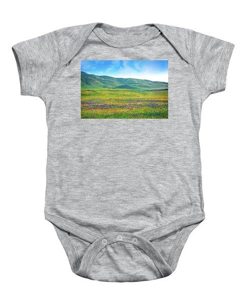 Tejon Ranch Wildflowers Baby Onesie