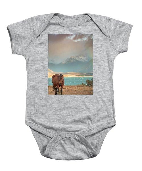 Tekapo Horse Baby Onesie