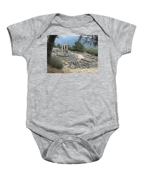 Temple Of Athena At Delphi Baby Onesie