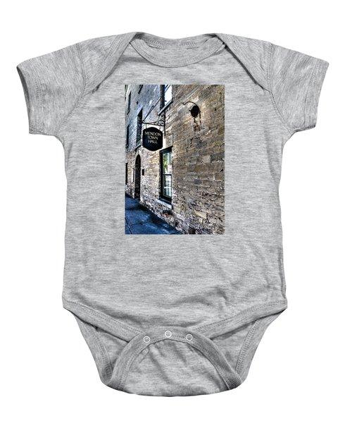 Mendon Town Hall Baby Onesie