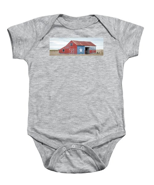 Texas Barn With Goats And Ram On The Side Baby Onesie