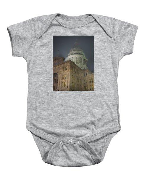 Texas Capitol In Fog Baby Onesie