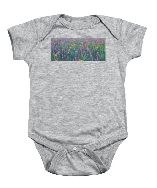 Texas Wildflowers Abstract Baby Onesie