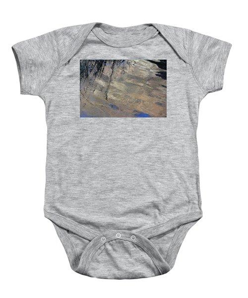 Texture In Grey Baby Onesie