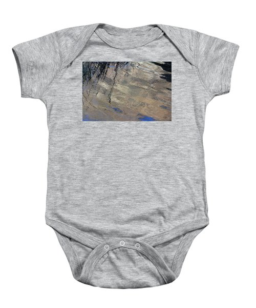 Texture In Grey Baby Onesie
