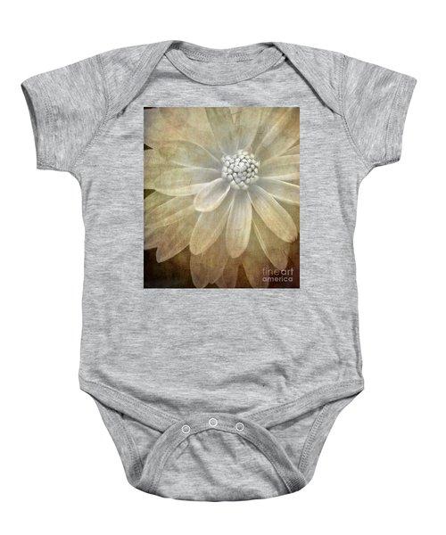 Textured Dahlia Baby Onesie