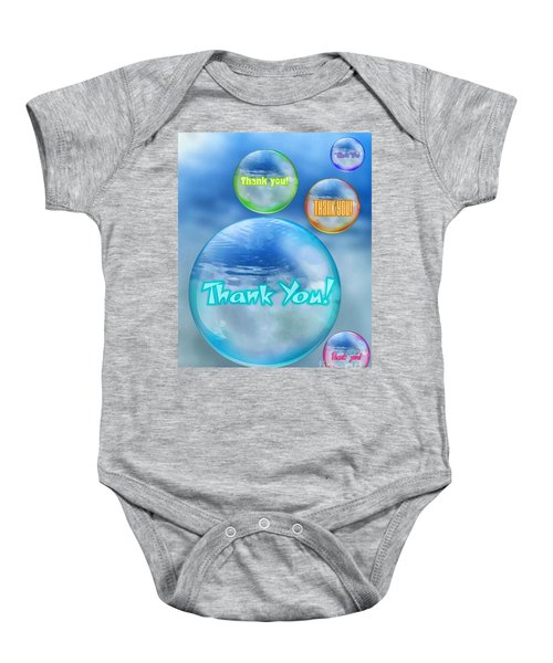 Thank You Bubbles Baby Onesie